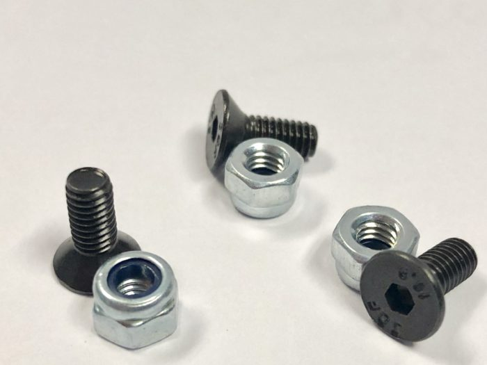 CSK Cap Screws & Nuts - 40 per pack